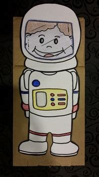 american astronaut paper bag puppet  ms zs cheerful