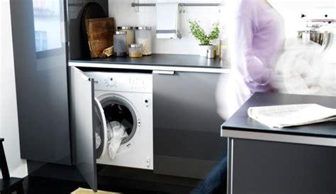 linge de cuisine caser le lave linge dans la cuisine