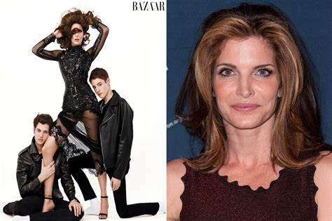 stephanie seymour poses   lingerie   sons