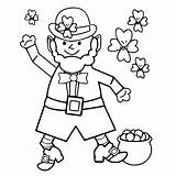 Leprechaun Coloring Shamrocks Sheets Pages Leprechauns Printable Getcoloringpages sketch template