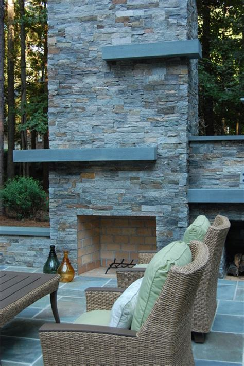 outdoor fireplace pizza oven modern landscape