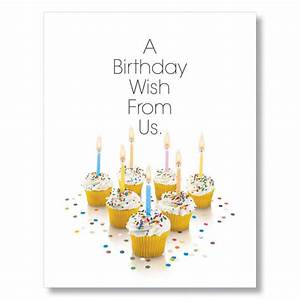 Birthday Cupcakes Team Birthday Cards Office Greeting Card