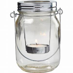 Mason, Jar, Lantern, Tealight, Candle, Holders, 6ct