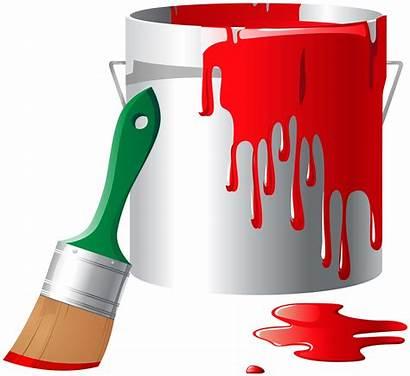Bucket Paint Clipart Clip Buckets Transparent Tools