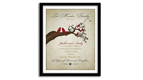 wedding anniversary gifts top 10 best 40th wedding anniversary gifts heavy com