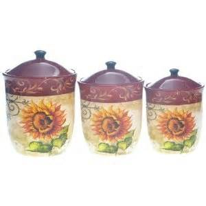 sunflower canister sets kitchen tuscan sunflower kitchen canisters sunflower