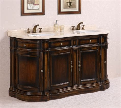 66 Inch Double Sink Bathroom Vanity with Cream Marble