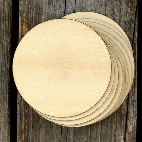wooden plain  circles craft shapes mm plywood ebay