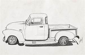 chevrolet clipart antique truck pencil and in color With 1948 ford coupe red