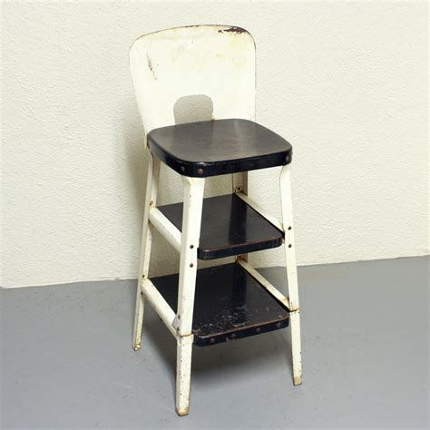 vintage stool step stool kitchen stool chair by oldcottonwood