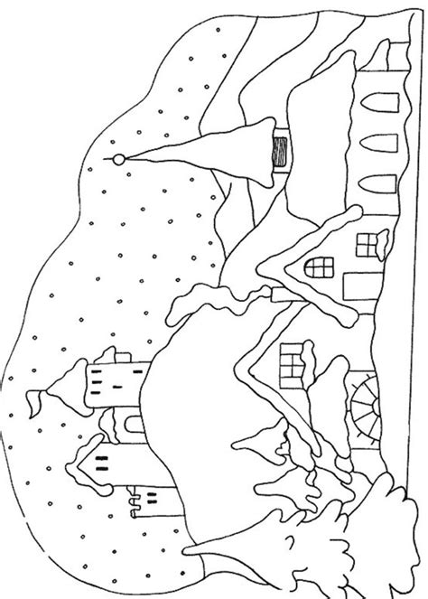 disegni da colorare paesaggi 21 disegni di paesaggi invernali da colorare