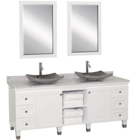 white double sink vanity 72 quot premiere double sink vanity white