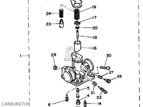 yamaha pw50 1986 g usa parts list partsmanual partsfiche