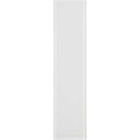 shop allen roth bright white glass wall tile common 3