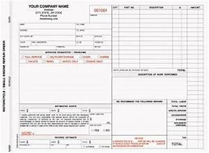 download repair order template rabitahnet With small engine repair invoice template