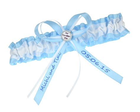 strumpfband blau weiss verein strumpfbandde