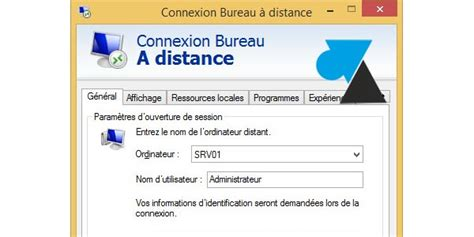 bureau distant script de connexion bureau à distance mstsc windows