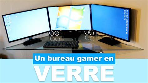 un bureau réaliser un bureau gamer en verre pas cher