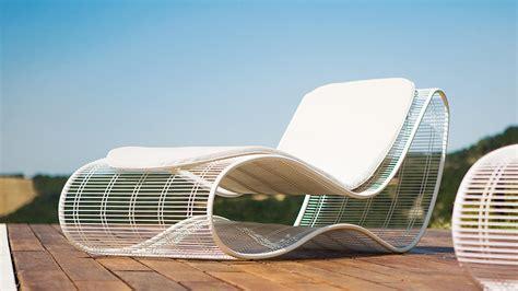 chaise de luxe design sinuo modern luxury metal frame sunbed shop