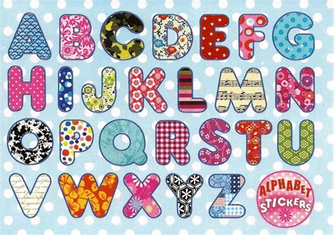 stickers muraux lettres alphabet stickers cards by editions cartes d