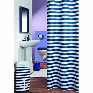 Rideau Blanc Et Bleu : catgorie rideaux de douche du guide et comparateur d 39 achat ~ Teatrodelosmanantiales.com Idées de Décoration