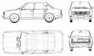 Skoda 105 1976 Blueprint