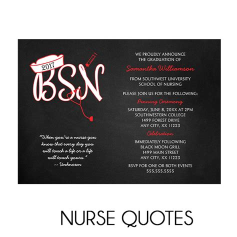 nurse quotes  graduation invitations lemon tree cards