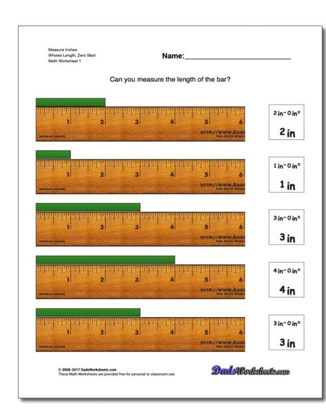 read  tape measure worksheet   worksheets