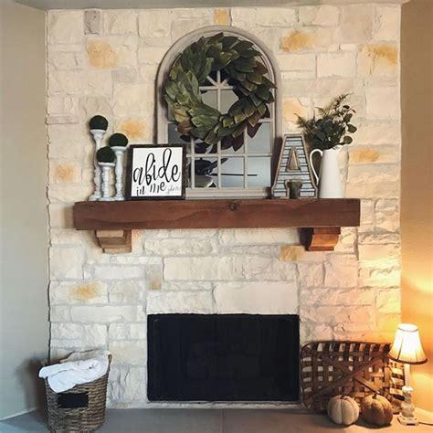 gorgeous farmhouse fireplace mantel design  decor