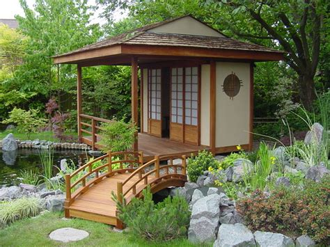 japanese teahouse and koi pond brentwood - Shed Style Houses
