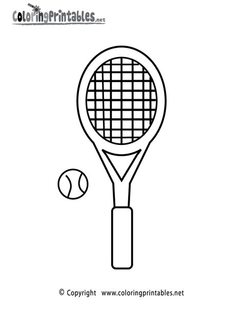 tennis racket coloring page   sports coloring printable