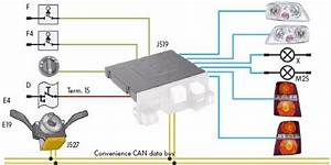 Volkswagen Touran Exterior Light Control Wiring Diagram  58701