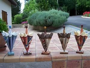 Creation Avec Des Pots De Fleurs : parapluie porte serviette personnages en pots de terre cuite ~ Melissatoandfro.com Idées de Décoration