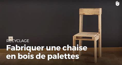 chaise palette fabriquer une chaise en bois de palette recycler