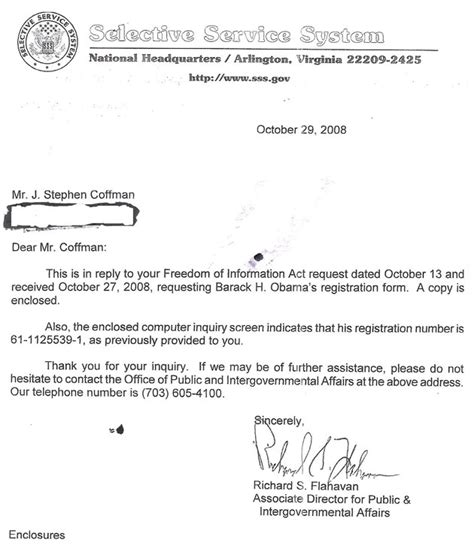 selective service system letter exclusive did next commander in chief falsify selective