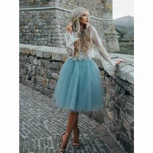 A line Homecoming Dresses, Light Blue A-line/Princess Prom ...