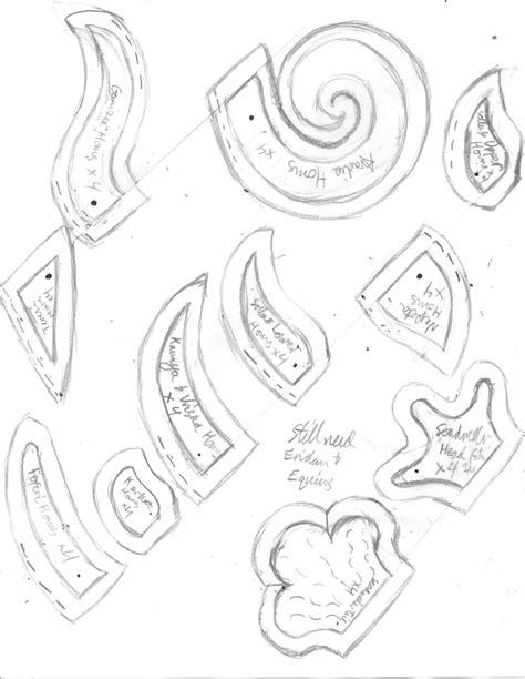 Troll Horn Templates by Homestuck Troll Grub Plushie Horn Patterns Part 1 By