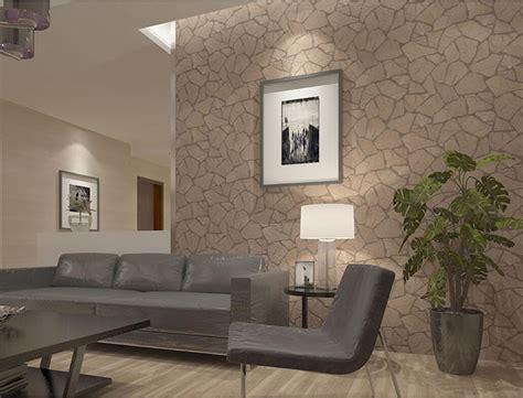 Pastoral 3d Brick Stone Wallpaper Gray Brown Stone