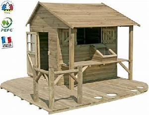 Cabane En Bois Pour Enfant : maisonnette chalet cabane enfants en bois bois poterie ~ Dailycaller-alerts.com Idées de Décoration