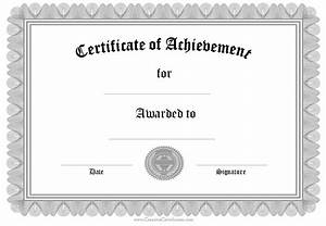 certificates of achievements certificate templates With certificate of attainment template