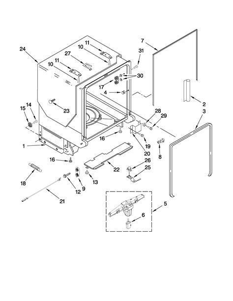 Kitchenaid Dishwasher Parts by Kitchenaid Dishwasher Rack And Track Parts Model