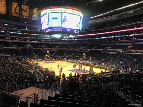 staples center section  clipperslakers rateyourseatscom