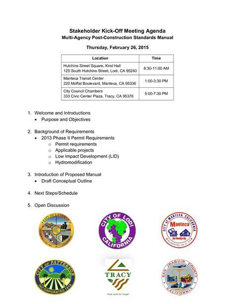 stakeholder kick  meeting agenda templates