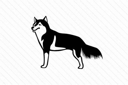 Husky Dog Siberian Breed Cut Svg Craft