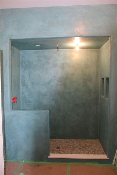 tadelakt shower  lime plaster company