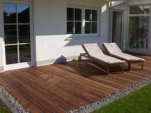 Terrasse Mit Kies : terrasse anschluss zum rasen wenn ebenerdig mit kies platz zum leben pinterest backyard ~ Markanthonyermac.com Haus und Dekorationen