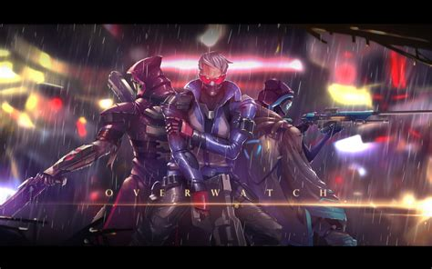 Wallpaper Ana, Reaper, Soldier 76, Overwatch, Hd, Games, #2051