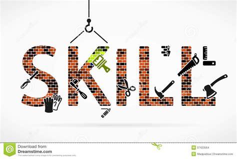 skill stock vector illustration  bolt masonry design