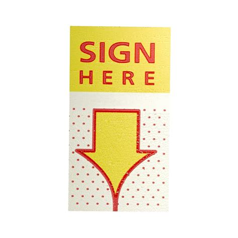 Jburrows Sign Here Flags 25 X 44mm 2 Pack Officeworks
