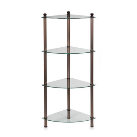 Corner Etagere Bathroom by L Etagere 4 Shelf Corner Tower In Rubbed Bronze Bed
